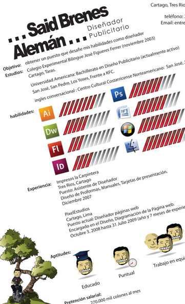 Curriculum Vitae Disenador Grafico