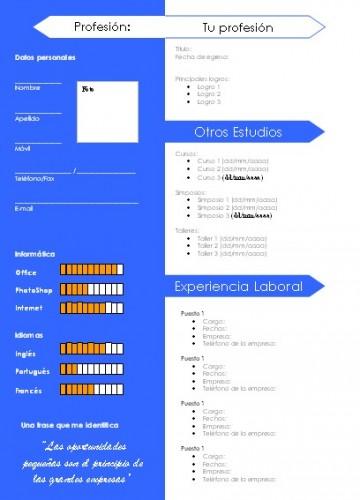 Azulina: Free CV template
