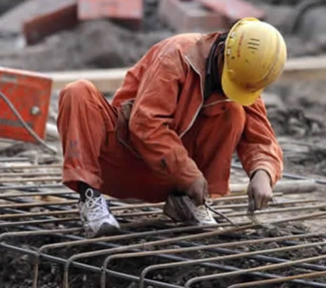 trabajar en la construcción