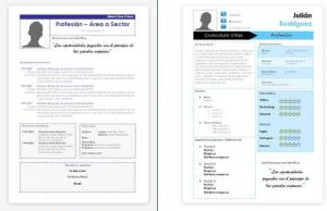 plantillas curriculum para word 2015 descargar