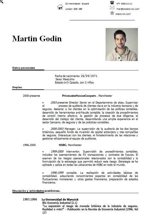 Elegante y discreta plantilla CV - curriculumsvitae.net