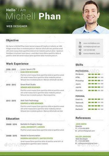 resume en word