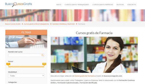 Busco curso gratis de auxiliar de farmacia