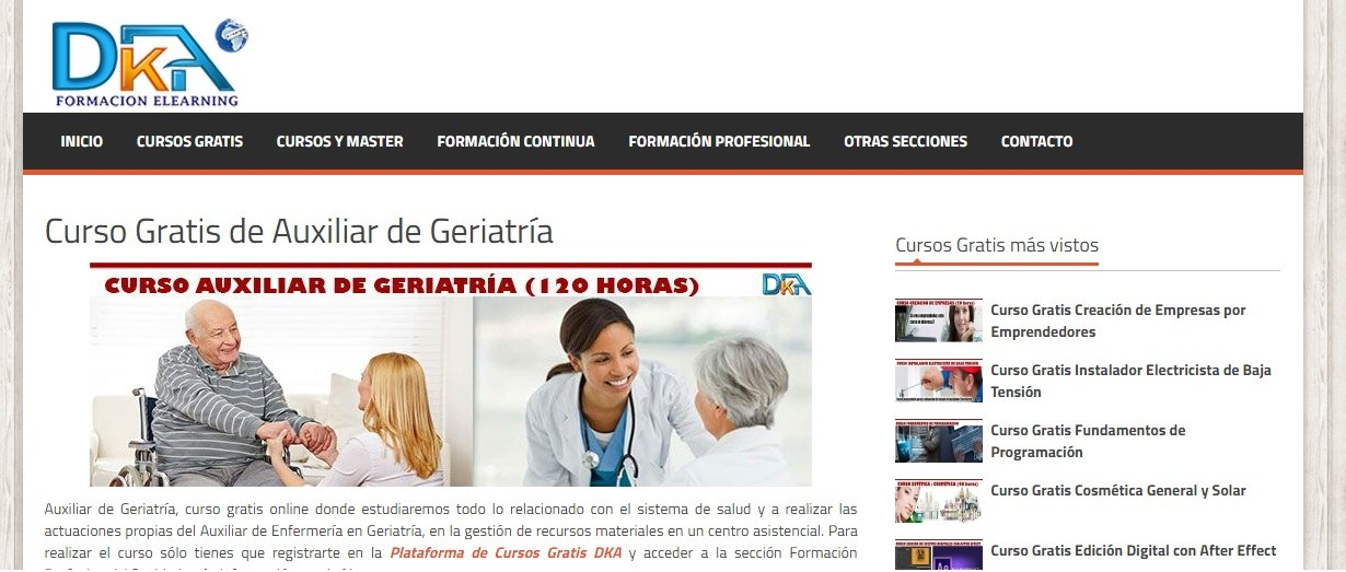 Curso gratis de geriatría: 6 opciones gratuitas - curriculumsvitae.net