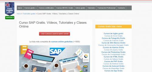 Formacion online para cursos SAP