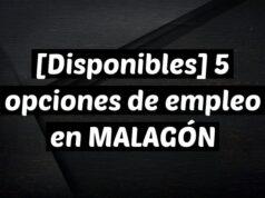 [Disponibles] 5 opciones de empleo en MALAGÓN