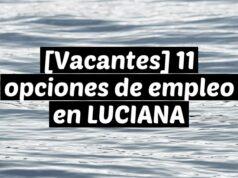 [Vacantes] 11 opciones de empleo en LUCIANA