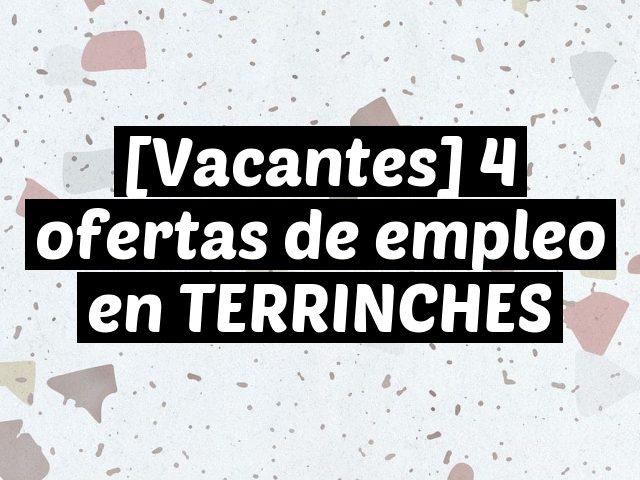 [Vacantes] 4 ofertas de empleo en TERRINCHES