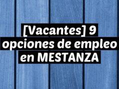 [Vacantes] 9 opciones de empleo en MESTANZA